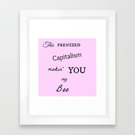 Frenzy Framed Art Print