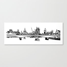 London Black and White Canvas Print