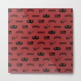 Airborne Pattern (Red) Metal Print