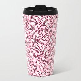 Candy cane flower pattern 6 Travel Mug