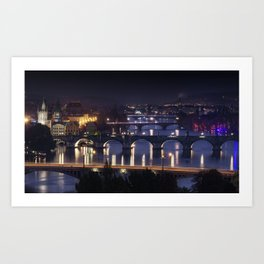 The Bridges of Prague Art Print