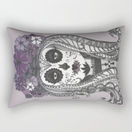 FLOWER CANDY SKULL Rectangular Pillow