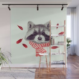 Indi raccoon Wall Mural