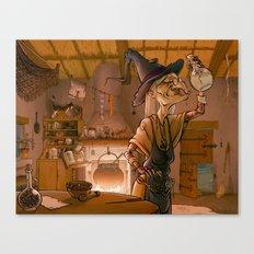 The witch / La sorcière Canvas Print