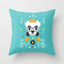 Animal Crossing: DJ KK Throw Pillow