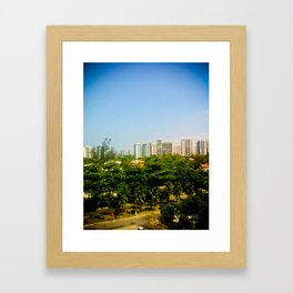Trees and Pollution Framed Art Print