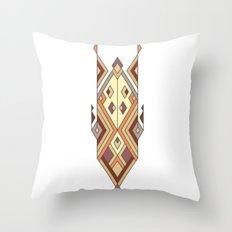 Vintage ethnic tribal aztec ornament Throw Pillow