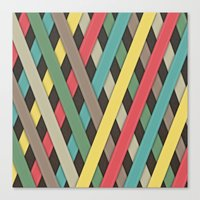 striped Canvas Prints featuring Striped by General Design Studio