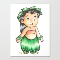 lilo and stitch Canvas Prints featuring Lilo from Lilo & Stitch  by laura nye.