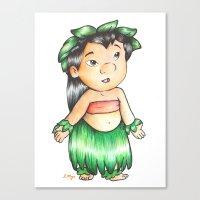 lilo and stitch Canvas Prints featuring Lilo from Lilo & Stitch  by Lozza.