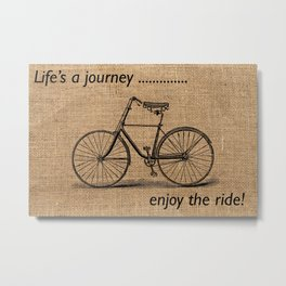 Life's A Journey Quote Metal Print