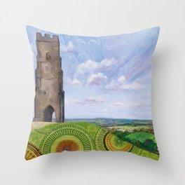 Summer spirit - Glastonbury Tor, Somerset, England Throw Pillow
