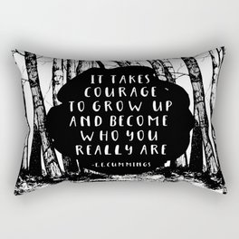 Courage (Designed for The YA Chronicles) Rectangular Pillow
