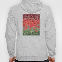 red sky, butterflies, poppies, & snails Hoody