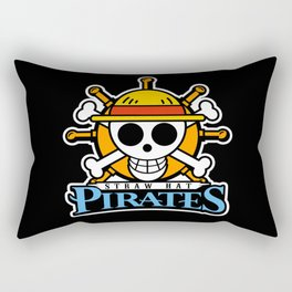 Pirates Jolly Roger Mascot Rectangular Pillow