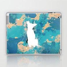 White Dog Laptop & iPad Skin