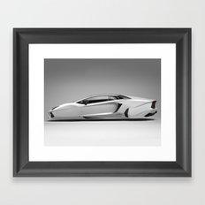 Lambo Hover Car  Framed Art Print