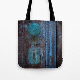 Rusted Door Tote Bag