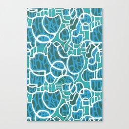 Bubbles Blue Canvas Print