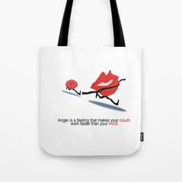 Anger illustrated Tote Bag