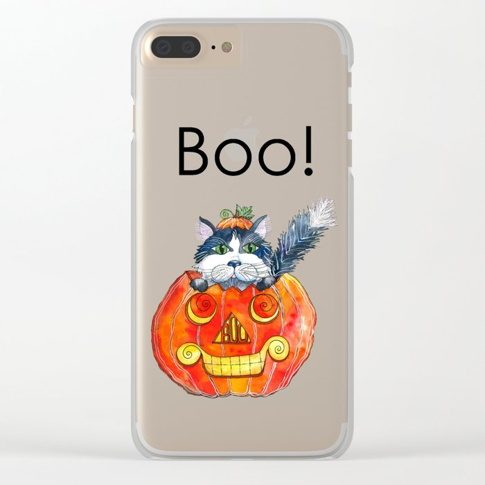 Boo! Clear iPhone Case
