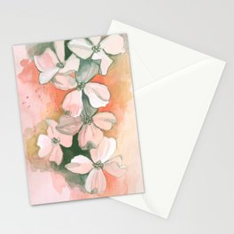 Dogwoods Sketch in Red Stationery Cards