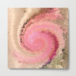 Multicolored mosaic in pink beige . Metal Print
