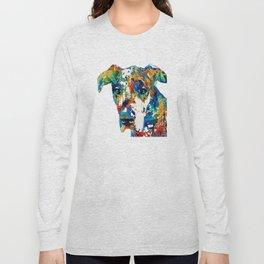 Colorful Great Dane Art Dog By Sharon Cummings Long Sleeve T-shirt