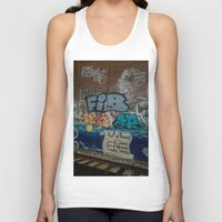 grafitti Tank Tops featuring Grafitti Art by Lisa De Rosa-Essence of Life Photography
