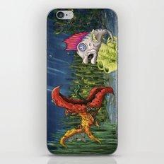mutant and punk fish iPhone & iPod Skin