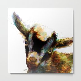 Gilbert Gregory the Baby Goat Metal Print