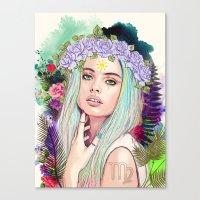 virgo Canvas Prints featuring Virgo by Sara Eshak