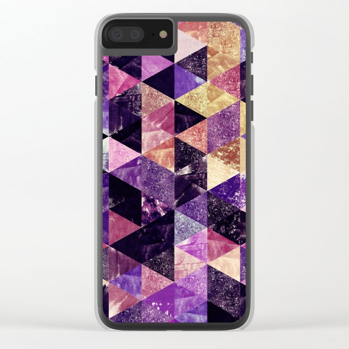 Abstract Geometric Background #9 Clear iPhone Case