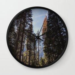 Yosemite Forest Wall Clock