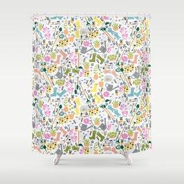 Garden Shed Pattern Shower Curtain
