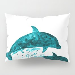 Dolphins, navy blue Pillow Sham