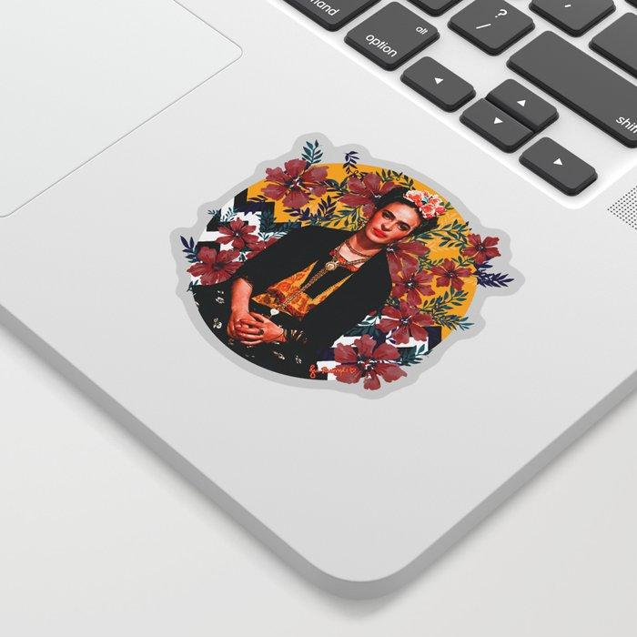 Frida Tropical Sticker