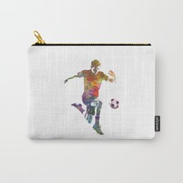 man soccer football player 09 Carry-All Pouch