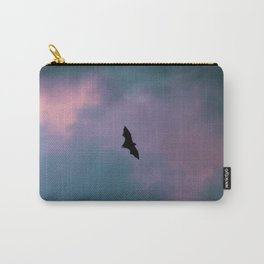 Flying Bat with Watercolor Sky Carry-All Pouch
