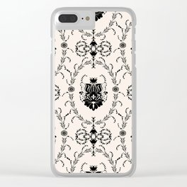 Seamless wallpaper background floral vintage Clear iPhone Case