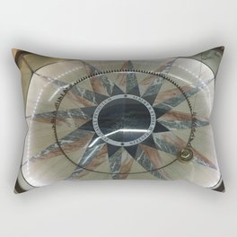 Foucault Pendulum from Above Rectangular Pillow