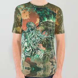 Cthulhu vs Godzilla All Over Graphic Tee