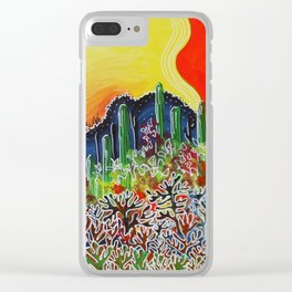 Nature's City Clear iPhone Case