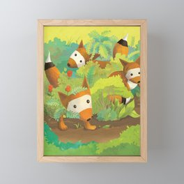 Babies in Bushes Framed Mini Art Print