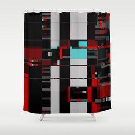feelin' static Shower Curtain