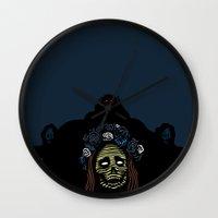 lana Wall Clocks featuring Lana by Stephan Brusche