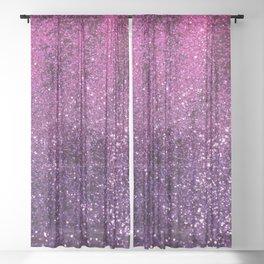 Purple Pink Ombre Lady Glitter #1 #shiny #decor #art #society6 Sheer Curtain