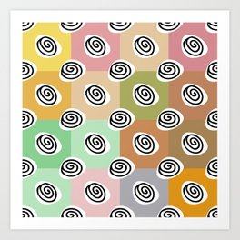 african curls multicolored Art Print