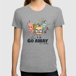 Kindly Go Away.. I'm reading Funny Bookworm Gift - Book Gang T-shirt