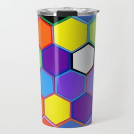 Happy Hexagons Travel Mug